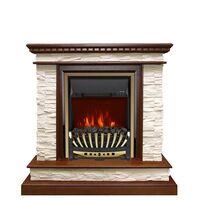 Каминокомплект Calgary - Дуб / Сланец белый с очагом Aspen Gold - Royal Flame