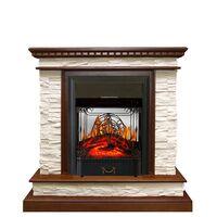 Каминокомплект Calgary - Дуб / Сланец белый с очагом Majestic FX M Black - Royal Flame