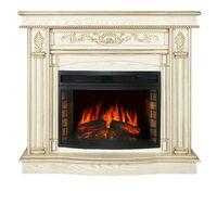 Каминокомплект Cardinal - Белый дуб, патина золото с очагом Dioramic 25 LED FX - Royal Flame