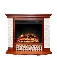 Каминокомплект Country - Орех/Сланец белый с очагом Jupiter FX New - Royal Flame