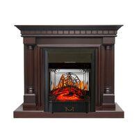 Каминокомплект Dallas - Темный дуб с очагом Majestic FX M Black - Royal Flame