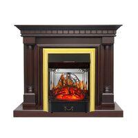 Каминокомплект Dallas - Темный дуб с очагом Majestic FX M Brass - Royal Flame