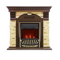 Каминокомплект Dublin угловой - Темный дуб / Сланец с очагом Aspen Gold - Royal Flame