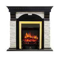 Каминокомплект Dublin - Венге / Сланец белый с очагом Fobos FX Brass - Royal Flame