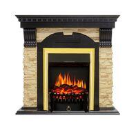 Каминокомплект Dublin - Венге / Сланец с очагом Fobos FX Brass - Royal Flame