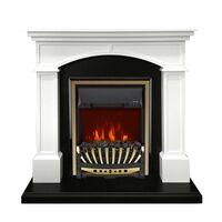 Каминокомплект Langford - Белый с черным с очагом Aspen Gold - Royal Flame