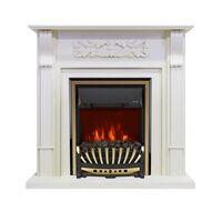 Каминокомплект Venice - Фактурный белый с очагом Aspen Gold - Royal Flame