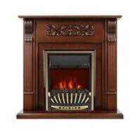 Каминокомплект Venice - Махагон коричневый антик с очагом Aspen Gold - Royal Flame