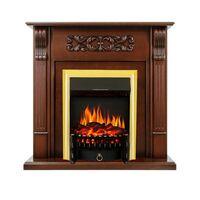 Каминокомплект Venice - Махагон коричневый антик с очагом Fobos FX Brass - Royal Flame