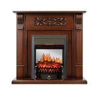 Каминокомплект Venice - Махагон коричневый антик с очагом Fobos FX M Black - Royal Flame