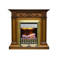 Каминокомплект Verona - Дуб антик с очагом Danville Antique Brass FB2 - Dimplex