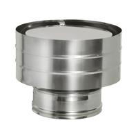 Дефлектор на трубу с изоляцией (0,5мм, нерж. 321) - Дымок