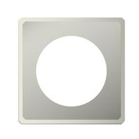 Фланец без изоляции (0,5мм, нерж. 321) - Дымок