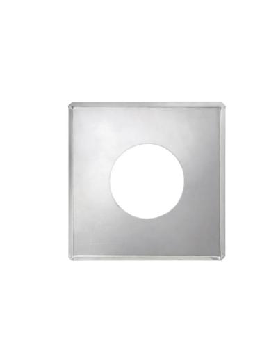 Фланец без изоляции на трубу с изоляцией (0,5мм, нерж. 321) - Дымок