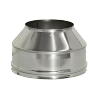 Конус на трубу с изоляцией (0,5мм, нерж. 321) - Дымок
