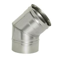 Отвод 45° без изоляции (0,5мм, нерж. 321) - Дымок