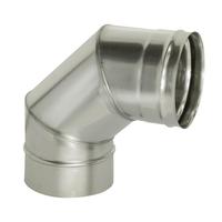 Отвод 90° без изоляции (0,5мм, нерж. 321) - Дымок