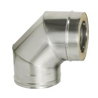 Отвод 90° с изоляцией (0,8мм, нерж. 321) - Дымок