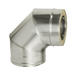 Отвод 90° с изоляцией (0,5мм, нерж. 321) - Дымок