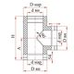 Тройник 90° с изоляцией (0,8мм, нерж. 321) - Дымок