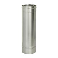 Труба прямая L1000 без изоляции (0,8мм, нерж. 321) - Дымок