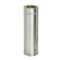 Труба прямая L1000 с изоляцией (0,8мм, нерж. 321) - Дымок