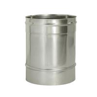 Труба прямая L250 без изоляции (0,8мм, нерж. 321) - Дымок