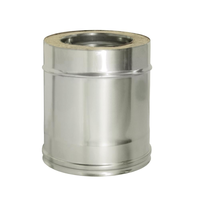 Труба прямая L250 с изоляцией (0,8мм, нерж. 321) - Дымок