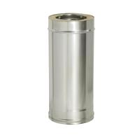 Труба прямая L500 с изоляцией (0,8мм, нерж. 321) - Дымок