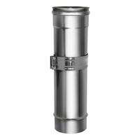 Труба телескопическая без изоляции (0,5мм, нерж. 321) - Дымок