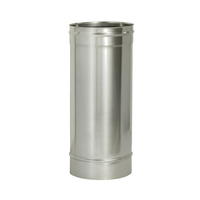 Труба прямая L500 без изоляции (0,8мм, нерж. 321) - Дымок