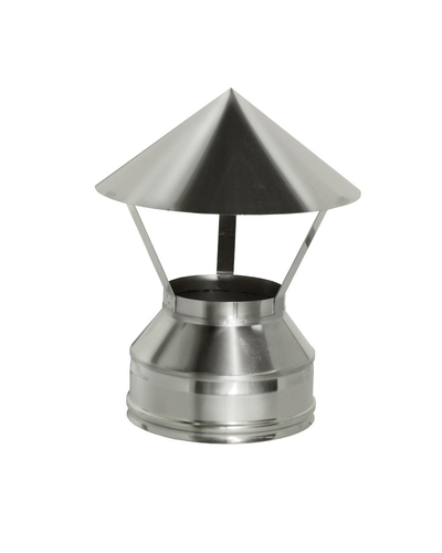 Зонт на трубу с изоляцией (0,5мм, нерж. 321) - Дымок