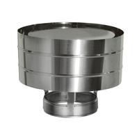 Зонт ветрозащитный на трубу без изоляции (0,5мм, нерж. 321) - Дымок