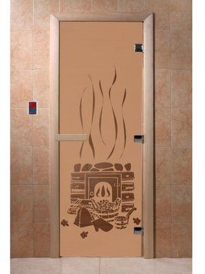 """Дверь для бани """"Банька бронза матовая"""" — DoorWood"""
