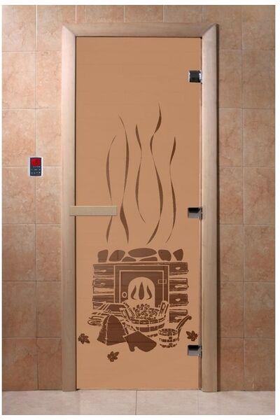 """Дверь для бани и сауны """"Банька бронза матовая"""""""