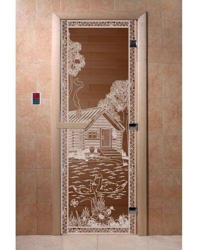 """Дверь для бани """"Банька в лесу бронза"""" — DoorWood"""