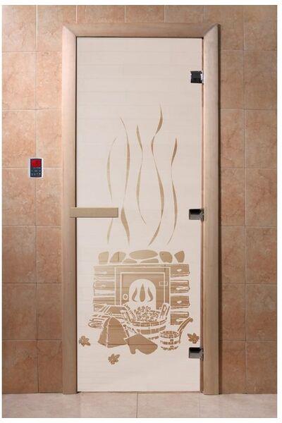 """Дверь для бани и сауны """"Банька сатин"""""""