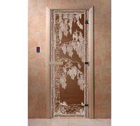 """Дверь для бани """"Березка бронза"""" - DoorWood"""