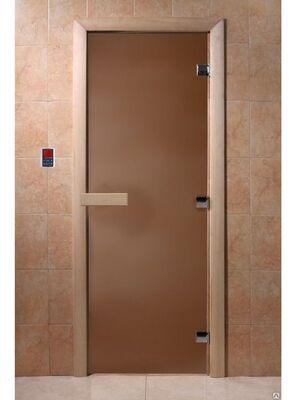 """Дверь для бани """"Бронза матовая"""" - DoorWood"""