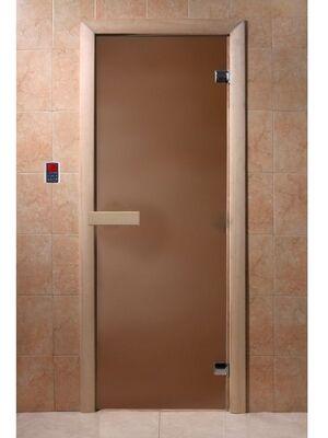 """Дверь для бани """"Бронза матовая"""", стекло 6мм, 2 петли - DoorWood"""