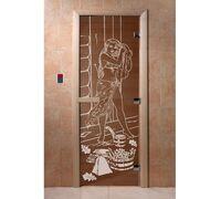 """Дверь для бани """"Дженифер бронза"""" - DoorWood"""