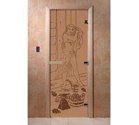 """Дверь для бани """"Дженифер бронза матовая"""" - DoorWood"""