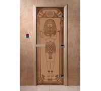 """Дверь для бани """"Египет бронза матовая"""" - DoorWood"""