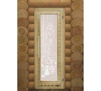 """Дверь для бани """"Элит"""" со стеклом 1850х750 - DoorWood"""