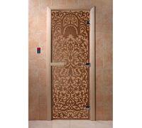 """Дверь для бани """"Флоренция бронза матовая"""" Ольха - DoorWood"""