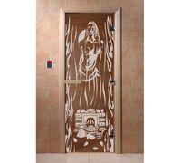 """Дверь для бани """"Горячий пар бронза"""" - DoorWood"""