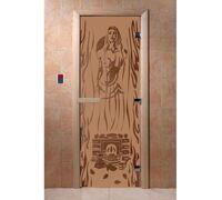 """Дверь для бани """"Горячий пар бронза матовая"""" Ольха - DoorWood"""