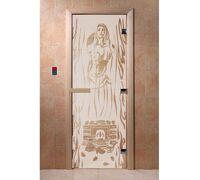 """Дверь для бани """"Горячий пар сатин"""" - DoorWood"""
