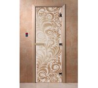 "Дверь для бани ""Хохлома сатин"" - DoorWood"