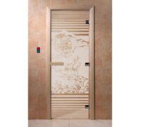 """Дверь для бани """"Япония сатин"""" - DoorWood"""